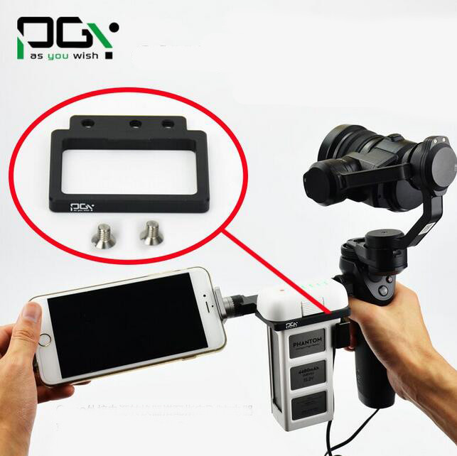 Free Shipping PGY DJI OSMO Gimbal battery fixing mount holder bracket frame for DJI Phantom 3 / 4 spare parts