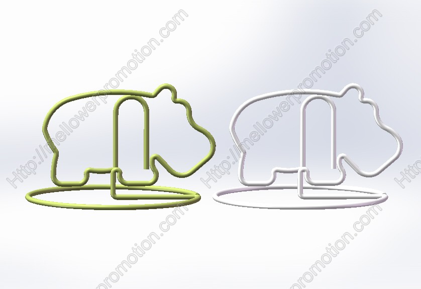 (500 pieces/lot) Fun hippo giant / bigger memo clips;Fancy hippo paper clips;conference gifts<br><br>Aliexpress