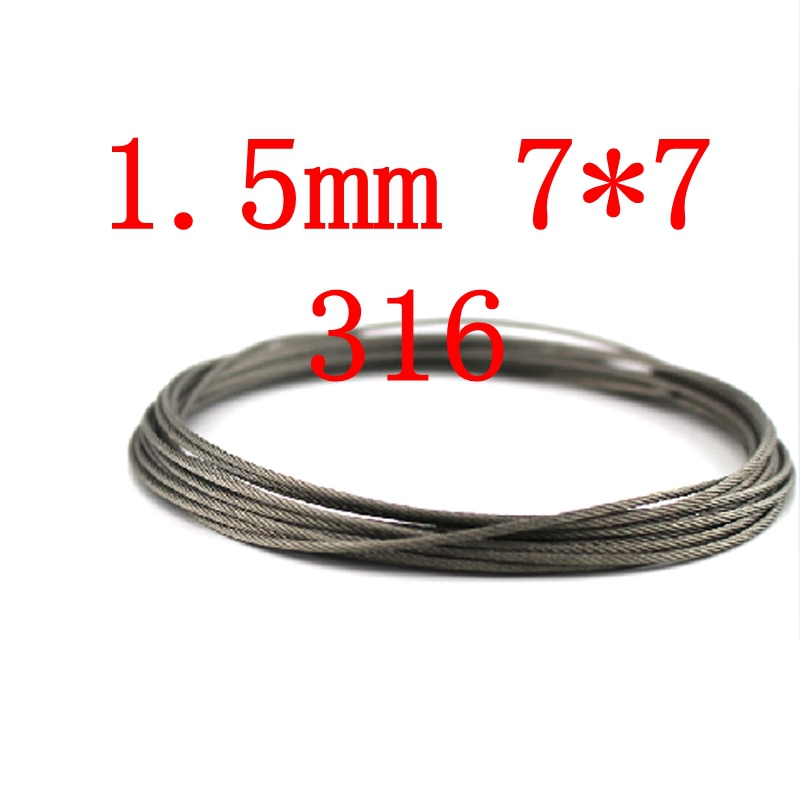 1.5mm 7*7 Wire Rope 7X7 Stainless Steel Cable,Seaworthy Marine Grade,316 /316L(China (Mainland))
