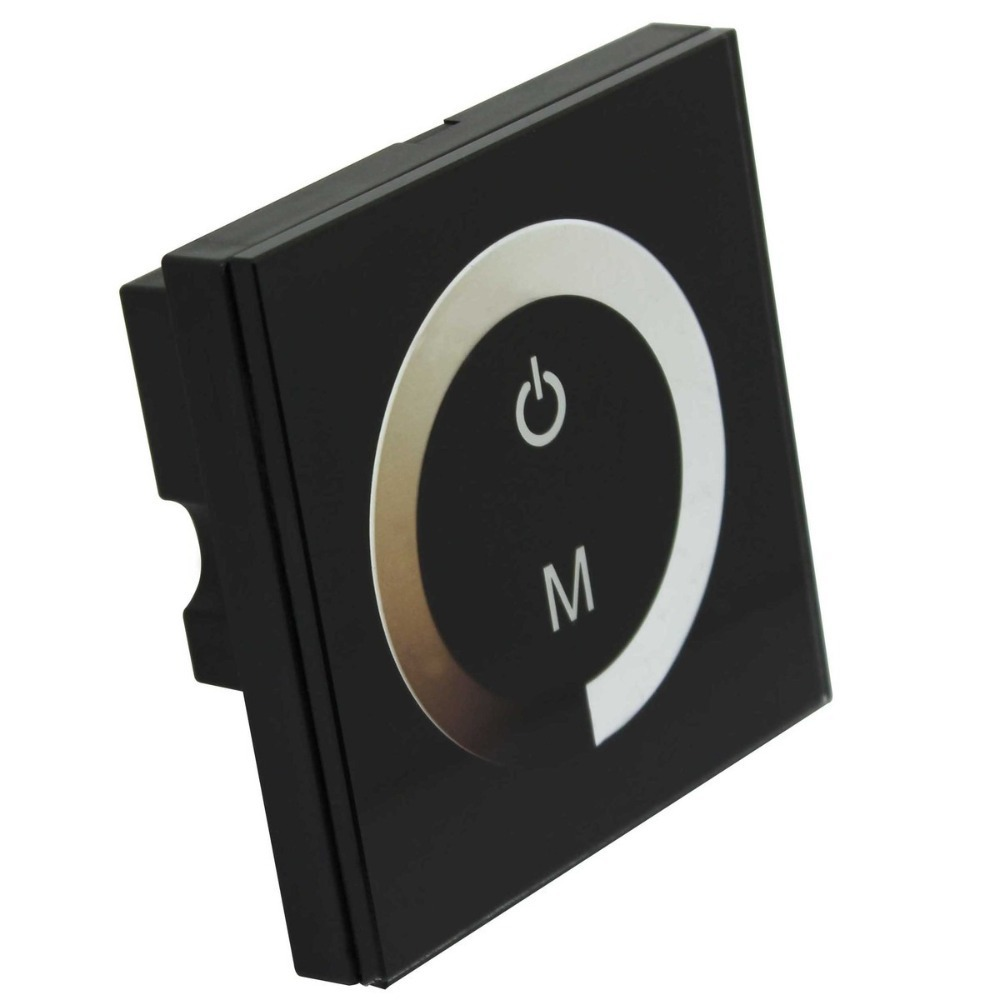 DC 12V-24V 8A / Channel Touch Panel LED Dimmer for Single Color LED Strip Light(China (Mainland))
