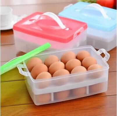 2016 Acrylic Makeup Organizer Double Storage Box Refrigerator Crisper Consumer Portable Multi-use Kitchen(China (Mainland))