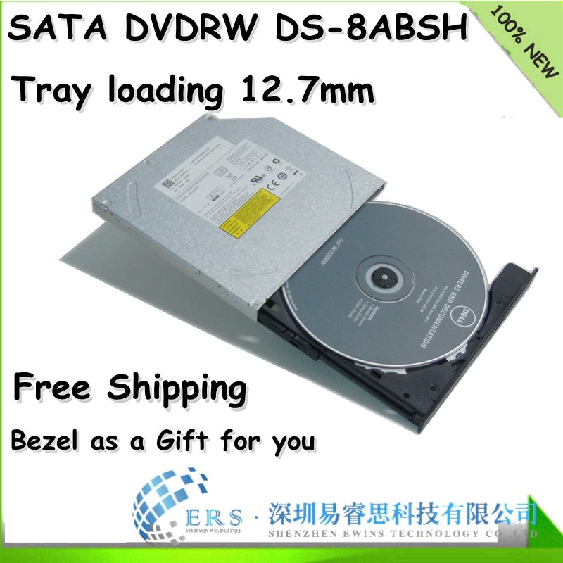Free Shipping Brand New 12.7mm Tray Loading super multi dvdrw Laptop Optical Drive Ds-8absh DS8ABSH(China (Mainland))