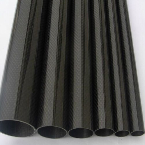 2pcs Roll Wrapped Carbon Fiber Tube 3K 10mm*12mm*500mm Glossy surface(China (Mainland))