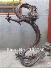 "free ship 44""Huge Royal Classical garden Bronze good Luck Feng shui statue Flight Dragon(China (Mainland))"