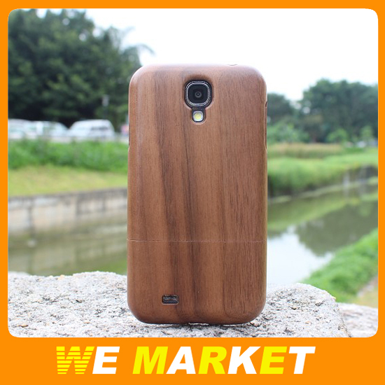 100% original bamboo&wood two part cover case For Samsung Galaxy S4 SIV I9500 4 retail package 1pcs/lot Free shipping(China (Mainland))