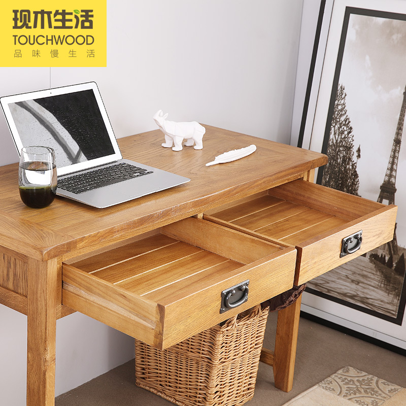 Children desk study tables wood computer desk desk simple American white oak furniture health environmental(China (Mainland))