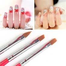 1Set/3PCS Acrylic UV Gel Polish Nail Art Builder Brush Drawing Painting Pen Tips Manicure Nail Tools Free Shipping(China (Mainland))