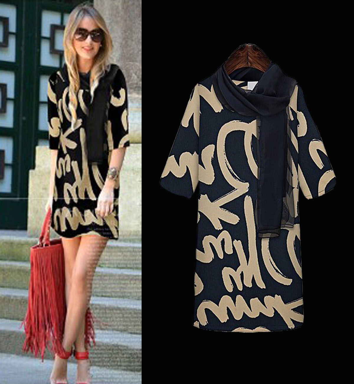 2014 Spring And Summer New European And American Big Name Fashion Style Slim Sleeve Chiffon