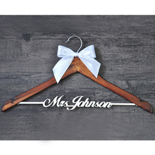 Custom Wedding Hanger with bowknot, Single Line Name Hanger, Personalized Bridal Hanger, Bridesmaids Name(China (Mainland))