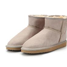 MBR Lực Chất Lượng Cao Úc Thương Hiệu Mùa Đông Nữ Ủng Bò Chia Da Mắt Cá Chân Giày Người Phụ Nữ Botas Mujer Lớn hoa Kỳ 3-13(China)