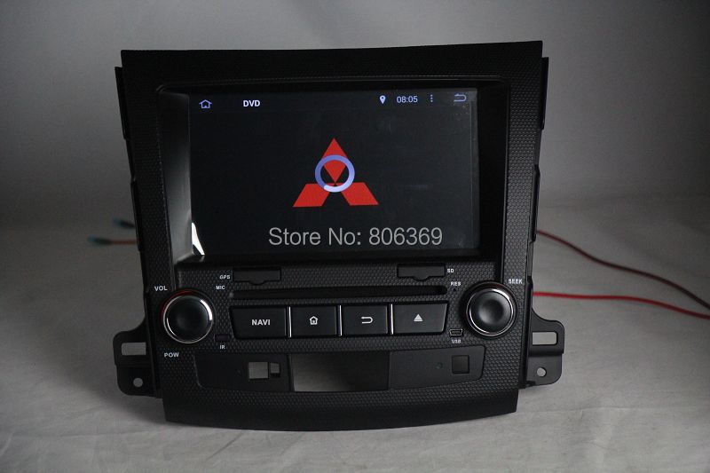Android 4.4 system Car GPS DVD Head Unit Sat Nav for Mitsubishi Outlander / XL / EX 2007 - 2012 with Wifi/ 3G Host Radio(China (Mainland))