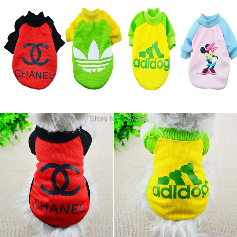 New Pet Puppy Summer Style Shirt Small Dog Cat Pet Clothes Vest T Shirt Chihuahua Yorkshire Poodle,Clothes for Dogs,Size XS-XXL(China (Mainland))