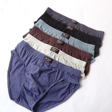 Mens Briefs 100% Cotton Plus Size Men Underwear  L/XL/XXL/XXXL/4XL/5XL Men's Breathable Panties 1PCS(China (Mainland))