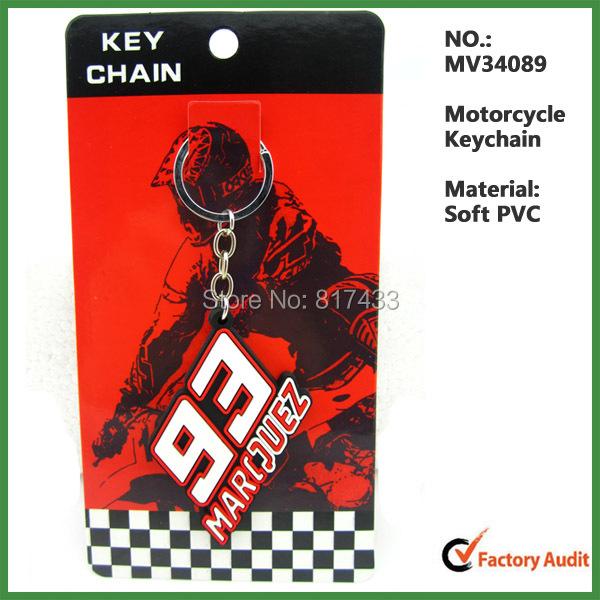 Maven Racing 50PCS/LOT Mix Model Motorcycle PVC Rubber Keyring keychain Marc Marquez keychains Formula 1 key ring gift wholesale(China (Mainland))