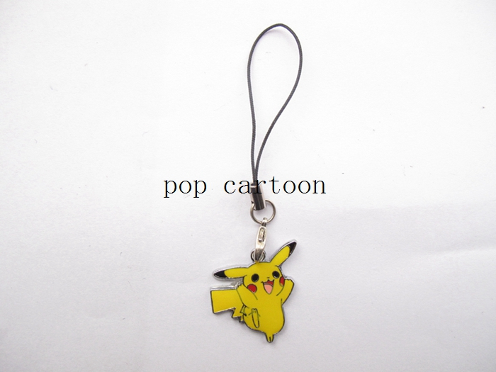 New 20 Pcs Carttoon Pikachu Mobile Phone Lobster Clasp Lanyard Enamel Charms Metal DIY GiftJewelry Making Gift D-41(China (Mainland))