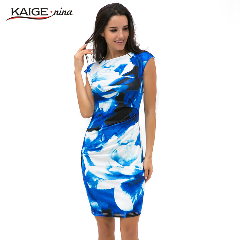 Aliexpress.com  Buy New Printed Bodycon Dress Women Summer Dresses Kaige.Nina Brand Plus Size ...