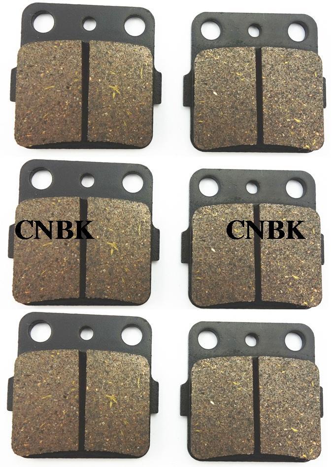 FL+FR+R Brake Pads Set fit YAMAHA 350 YFM S / T-RY Raptor YFM350 2005 2006 2007 2008 2009 2010 2011 2004 - 2012(China (Mainland))