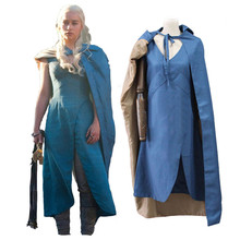 New Arrive Halloween 2015 Game of Thrones Daenerys Targaryen Cosplay Cos- Custom Made In Any Size