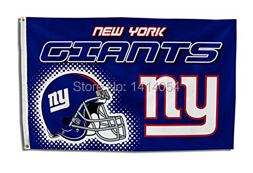 New York Giants Helmet logo Flag 150X90CM Banner 100D Polyester3x5 FT flag brass grommets 001, free shipping(China (Mainland))