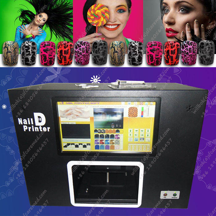 New 2015 Digital art Computer nail printing machine,Flower printer, do your design, great for lady business.(China (Mainland))
