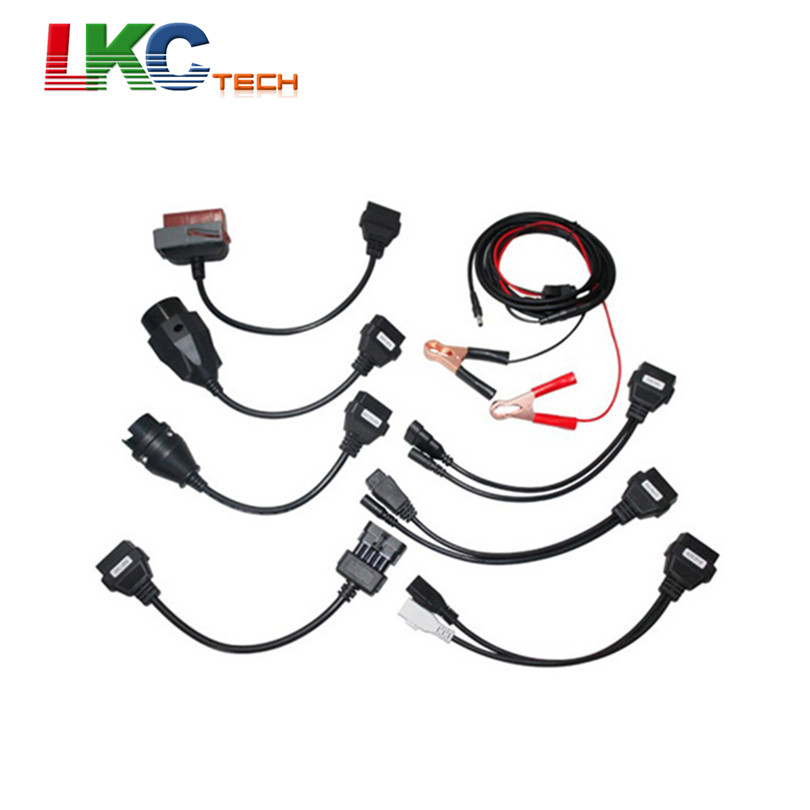 Hot Sales Full Sets CDP Car Cables TCS CDP Pro Auto OBD2 Diagnostic Cables With 8 Car Cables Car Diagnostic Interface Scanner(China (Mainland))