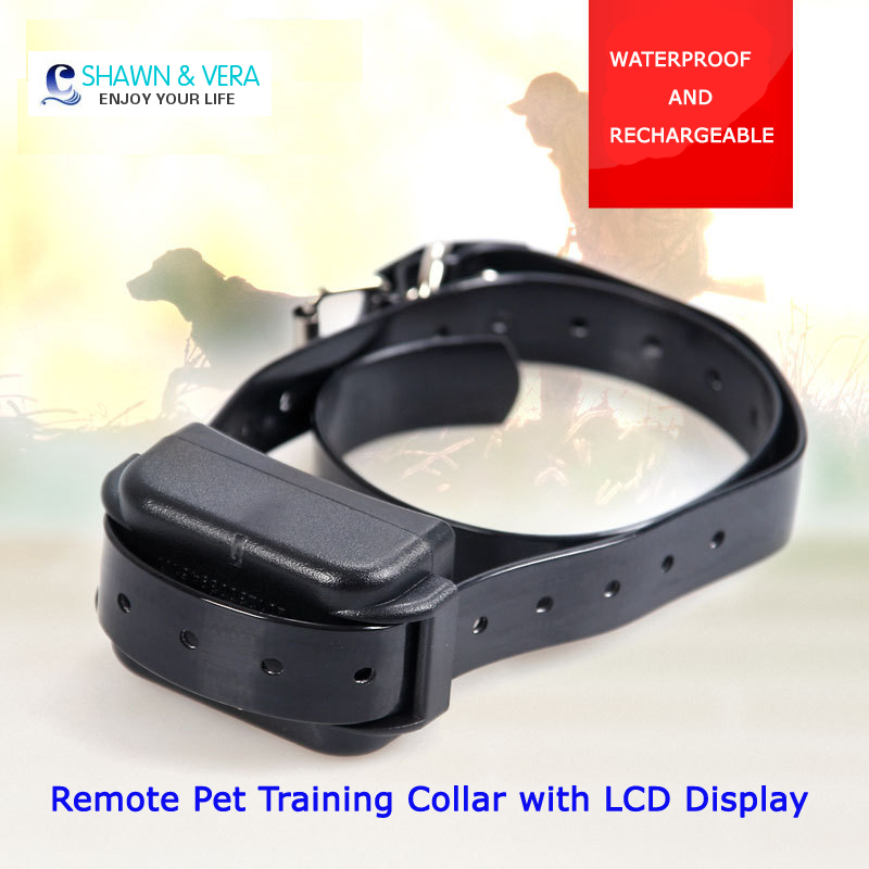 250m Remote Pet Training Collar in Training&Behaviour Aids with LCD Display(China (Mainland))