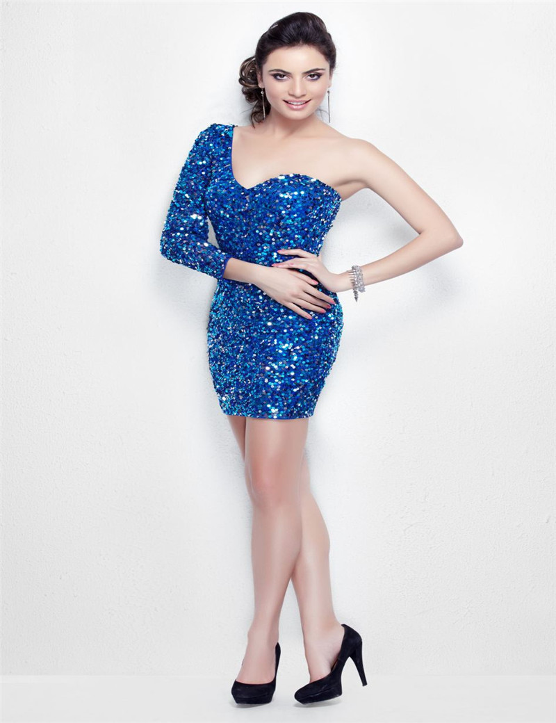 Royal Blue/Black/Silver Sequin Homecoming Dress Fast ...