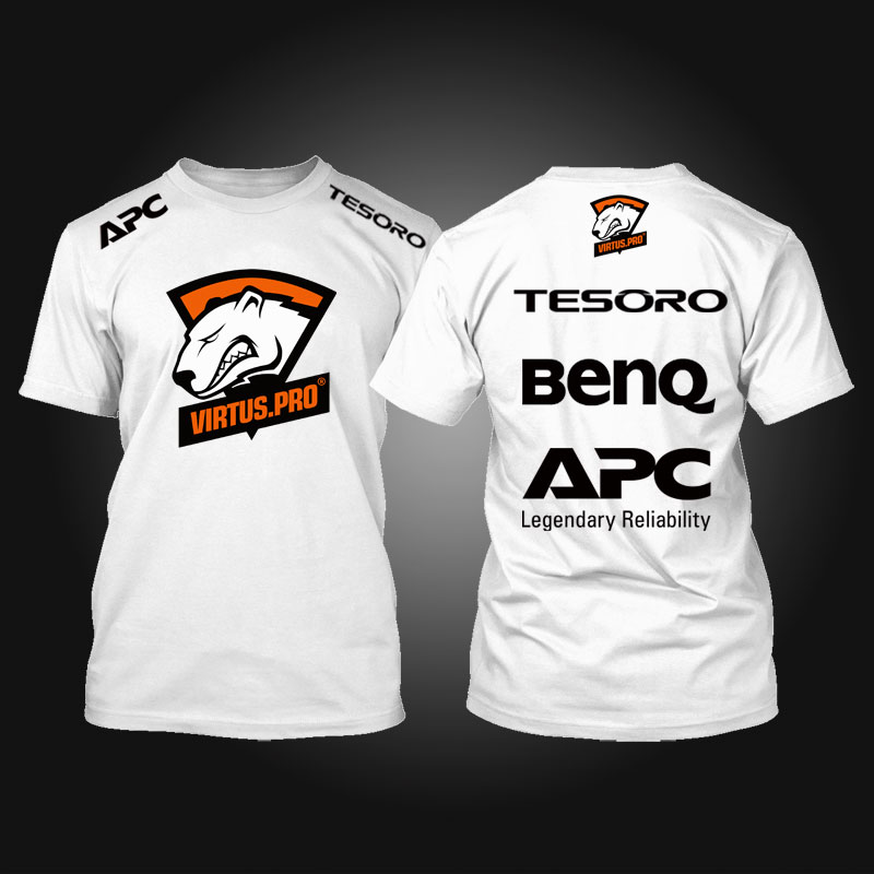Tesoro BenQ APC Virtus.Pro T shirt Print T-Shirt Game Team cotton camisetas top tees T Shirt homme(China (Mainland))