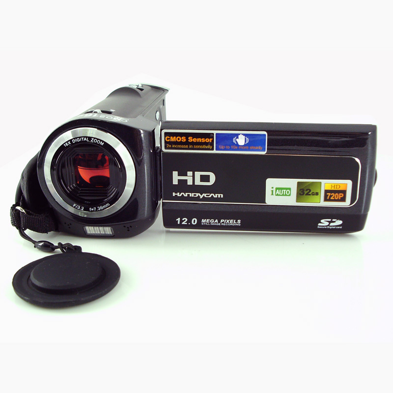 12Mp max 1280x 720P HD Digital Video Camera with 5Mp CMOS Sensor 16x Digital Zoom and Lithium Battery<br><br>Aliexpress