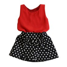 Hot Girl Dress New 2016 girls sets vest pleated dress two pieces set casual clothes children skirt suit girls(China (Mainland))