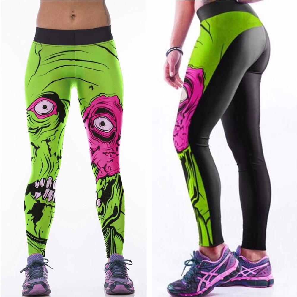 Green Plants Vs Zombies Sports Yoga Pants Women Running