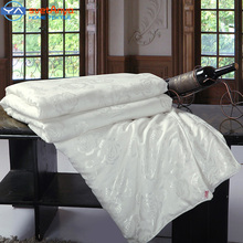 100% mulberry Silk comforter king/queen/Full/Twin size Summer/Winter bedding Filler,hand-made natural Silk Blanket,white/pink(China (Mainland))