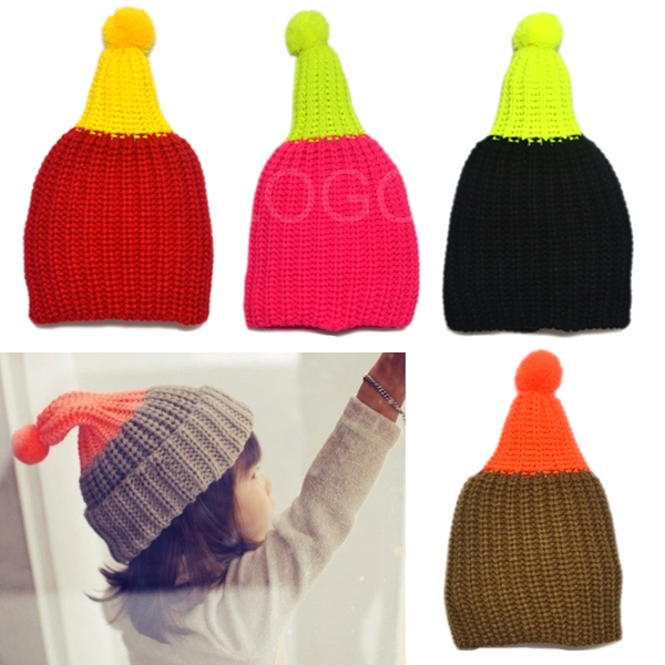 Hot Selling Cute Kids Knitted Winter Autumn Warm Keeping Hat Cap Christmas Hat Style Promotion(China (Mainland))