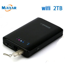 WIFI HDD 2TB 1tb SATA USB3.0 HDD external hard drive  wireless router power bank wifi repeater for tablet pcs and mobile phone(China (Mainland))