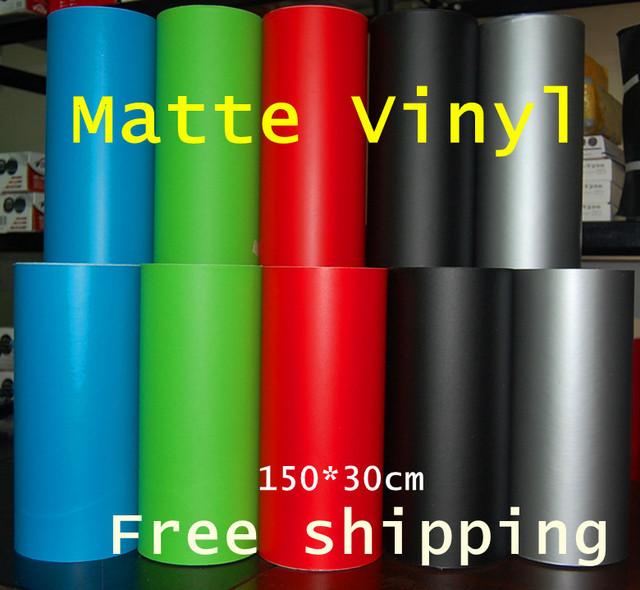 Matte Vinyl 30cm*150cm film High Quality carbon car film