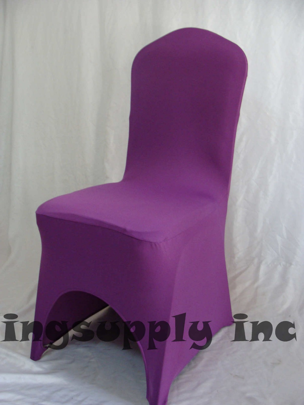 100 Premium Purple Spandex/Polyester Chair Covers for Wedding Banquet Chair Cloth Universal Chair Cover free shipping(China (Mainland))