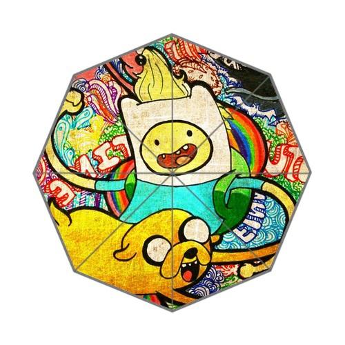 Free Shipping Three-folding Umbrella Clear UV Women's Sun Umbrella Print Game Beemo Adventure Time Funny Rainy Umbrella(China (Mainland))