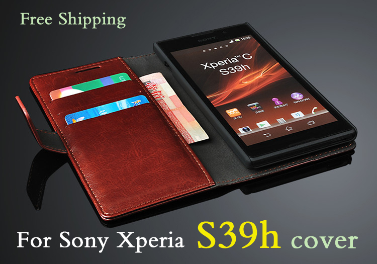 Luxury flip shell Sony Xperia S39h leather case cover C CN3 C2305 cell phone cases - Shenzhen SUK Trading Co., Ltd store