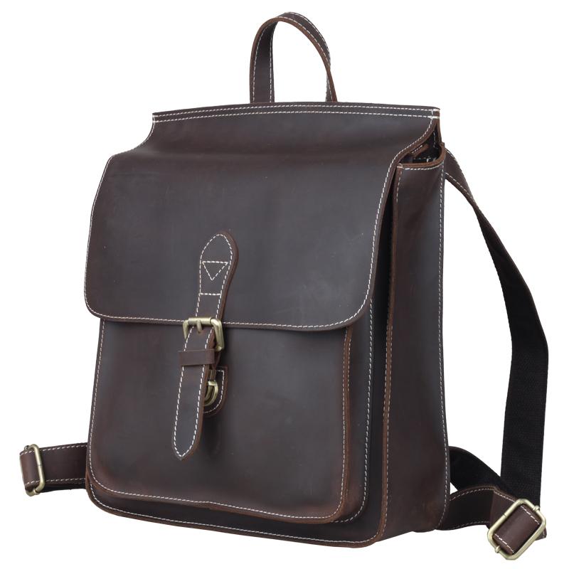 Preppy Chic Backpack Genuine Leather Multifunction Shoulder Tote Bag Schoolbag Bookbag # PR801129