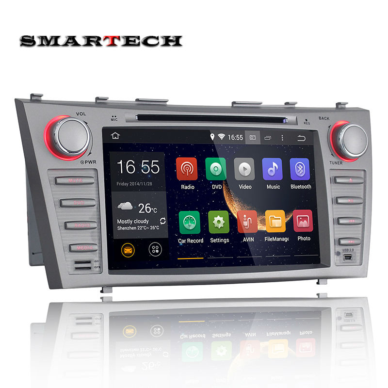 Quad Core High vision 1024*600 In dash Toyota Camry Android 4.4.4 OS 8 Inch Double Din Car DVD GPS System Support 3G Wifi OBD2(China (Mainland))