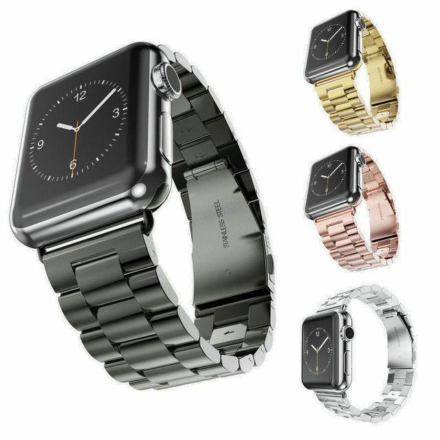 Новое качество нержавеющей стальной ленты для Apple , группы часы спорт издания серебро золото ремешок для часов 38 мм 42 мм для iWatch группа