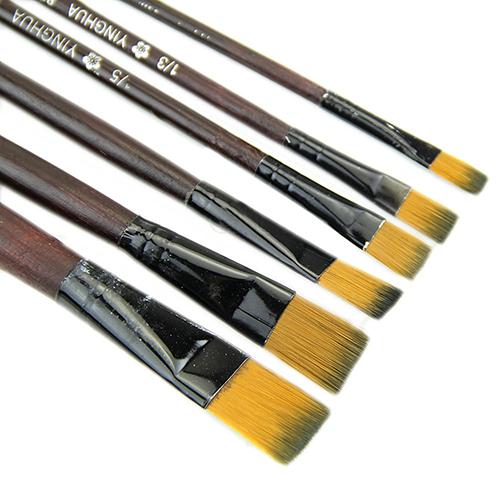 Гаджет  Free Shipping 6Pcs/Set Nylon Acrylic Oil Paint Brushes For Art Artist Supplies Watercolor  None Офисные и Школьные принадлежности