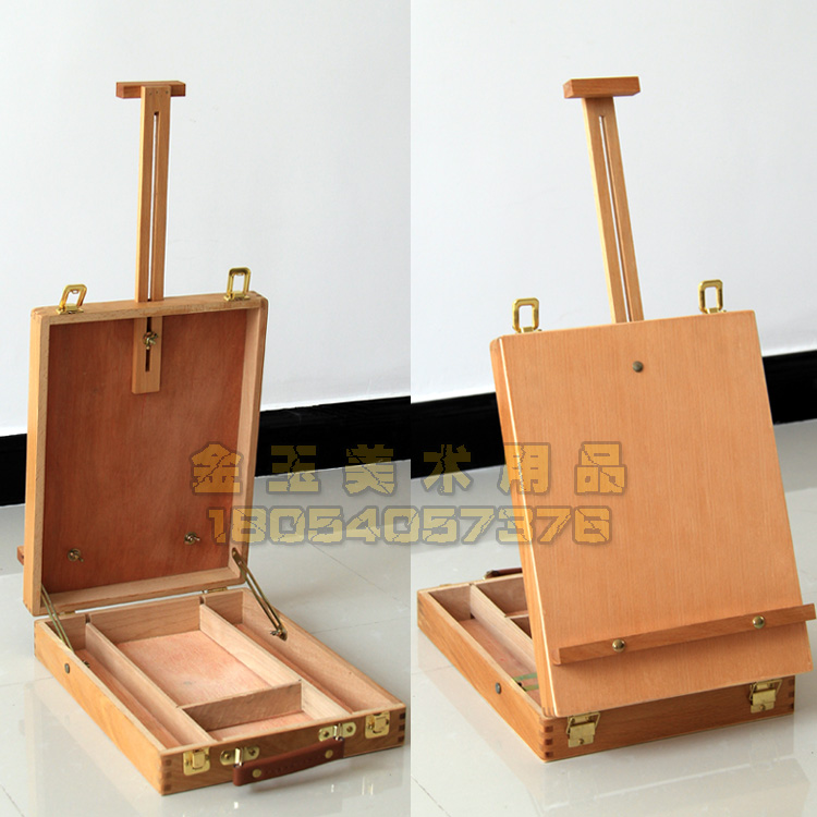 Solid wood hand painted wooden box Desktop Desktop Sketchpad Sketch art painting box frame portable toolbox<br><br>Aliexpress