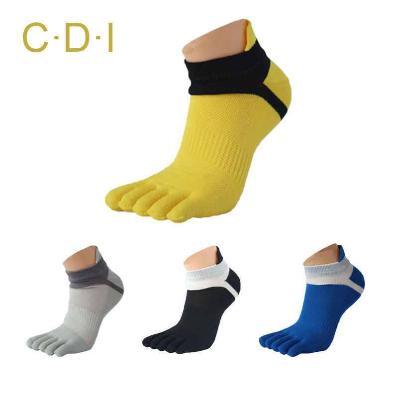 2015 Summer New Mens Toe Socks Cotton Five Fingers Socks Casual Sport Socks with Toes Ankle Socks 6 colors(China (Mainland))
