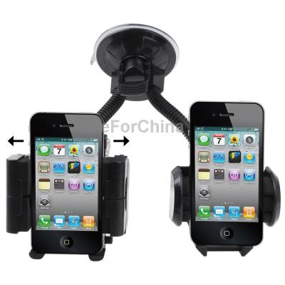 Universal Scalable Car Holder for iPhone 4 4S/3GS/3G /Mobile Phone/PDA/GPS/ MP4, Support 360 Degree Rotation, Width:5.5-11.5cm(China (Mainland))