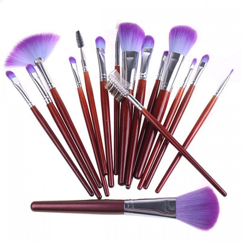 Набор кистей для макияжа 16 шт. в фиолетовой сумке в красноярске / купить, узнать цену на сайте classifieds24.