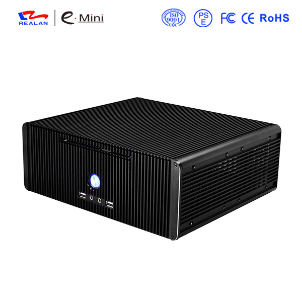 Realan K5 Mini Itx Case Aluminum Computer Case Desktop PC Chassis(China (Mainland))