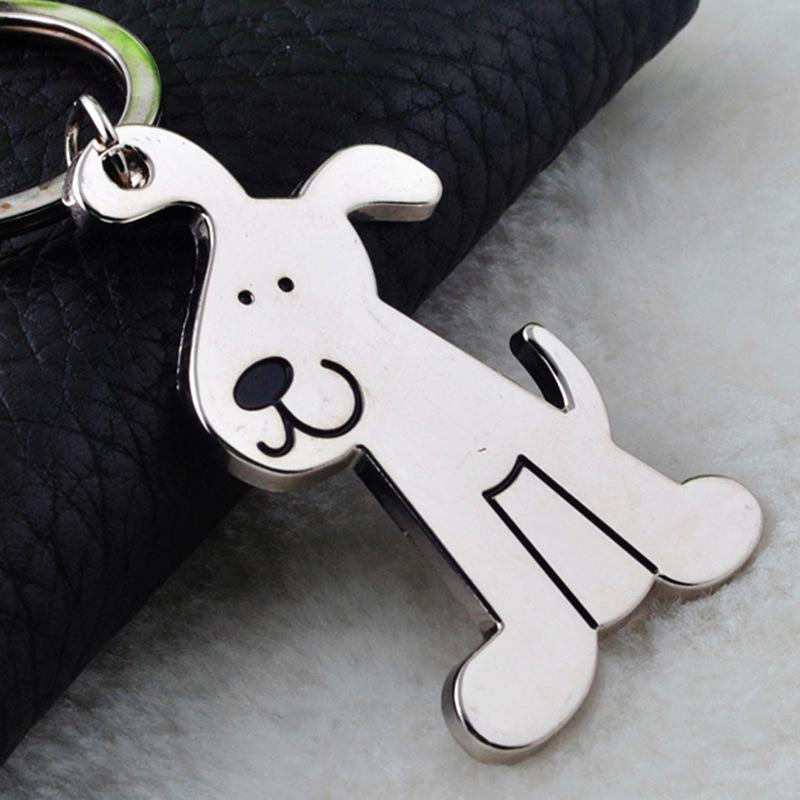 2015 Exquisite gift Manufacturers supply genuine creative personality Smooth Dog Keychain keychain GX-031(China (Mainland))