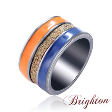 2015 New Arrive Rock Shiny Resin Rings Colourful Frosted Fashion Women Female Jewelry High Quality Gifts For ladies