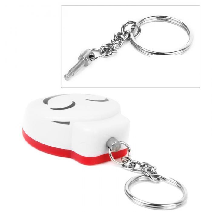 Smile Face Self-defense Pull Chain Clasp Anti-snatch Alarm Girl Security Accessory Apparatus Against the Wolf LCC77